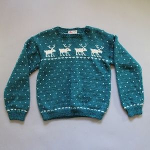 Handmade Wool Reindeer Sweater